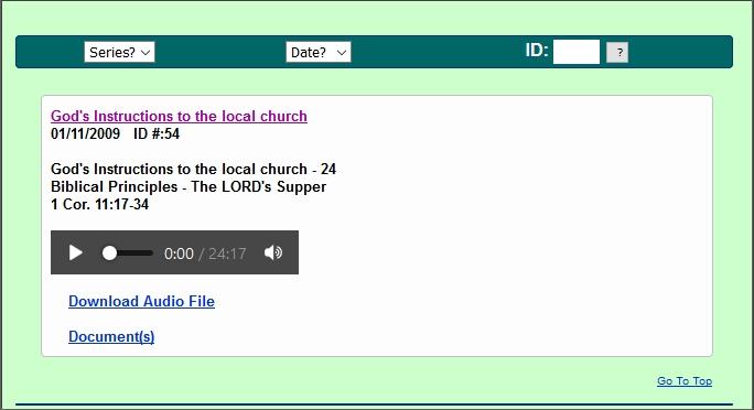 sermon 01/11/2009