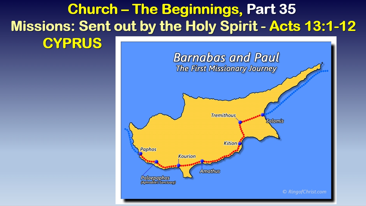 Missions: Sent out by the Holy Spirit - Cyprus