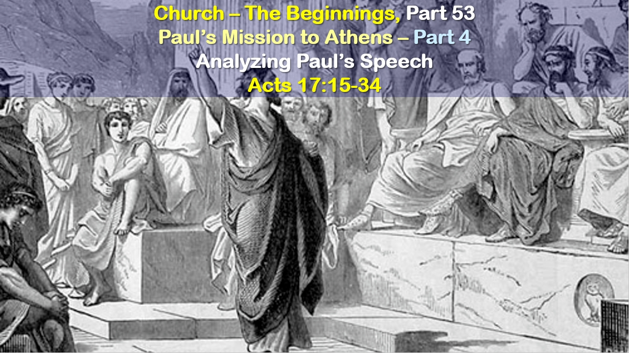 Paul's Mission to Athens – Part 4