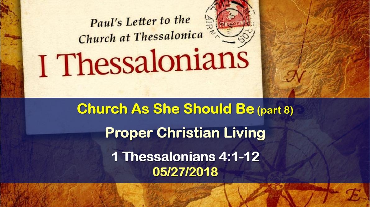 Proper Christian Living