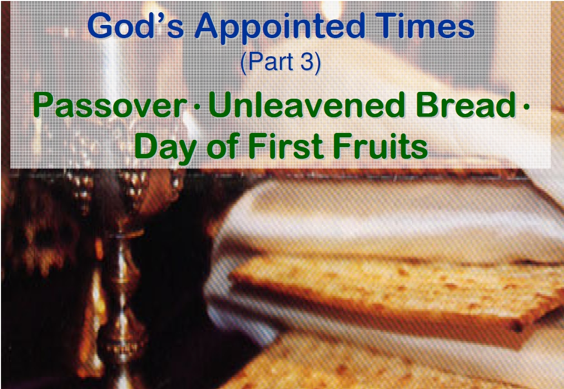 God's Appointed Times – Part 3