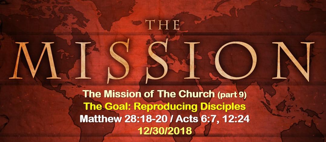 The Goal: Reproducing Disciples