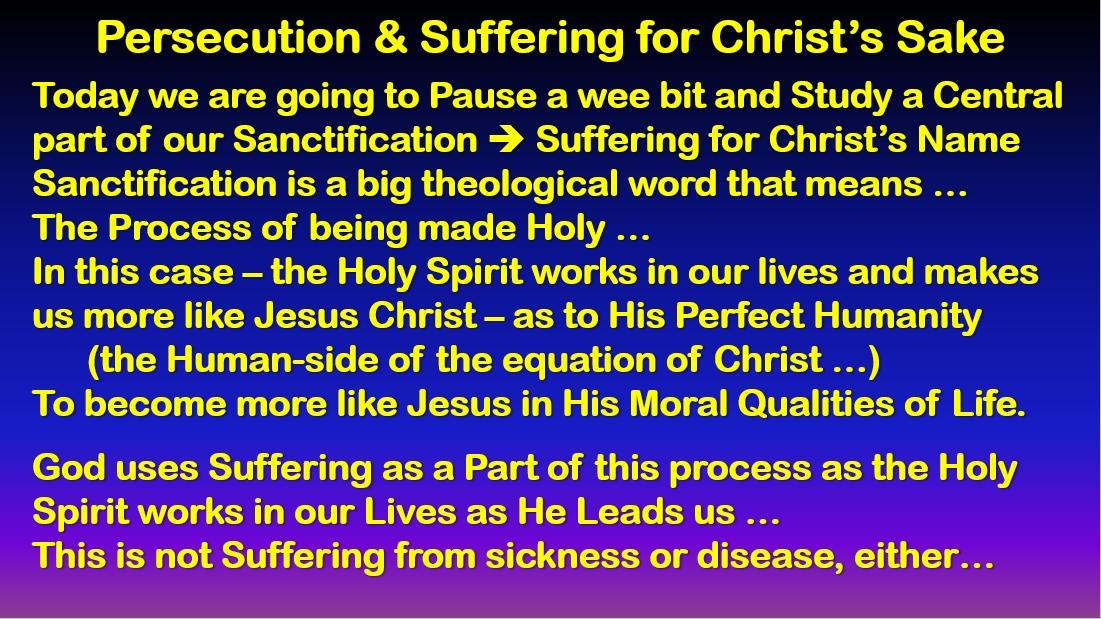 Suffering For the Sake of Christ – Romans 8:14-25